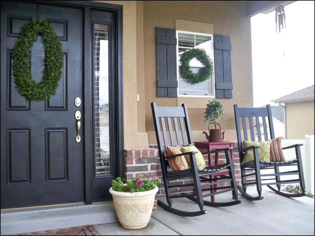 Well Known Beautiful Front Porch Chair Ideas – Niceporches (View 4 of 20)