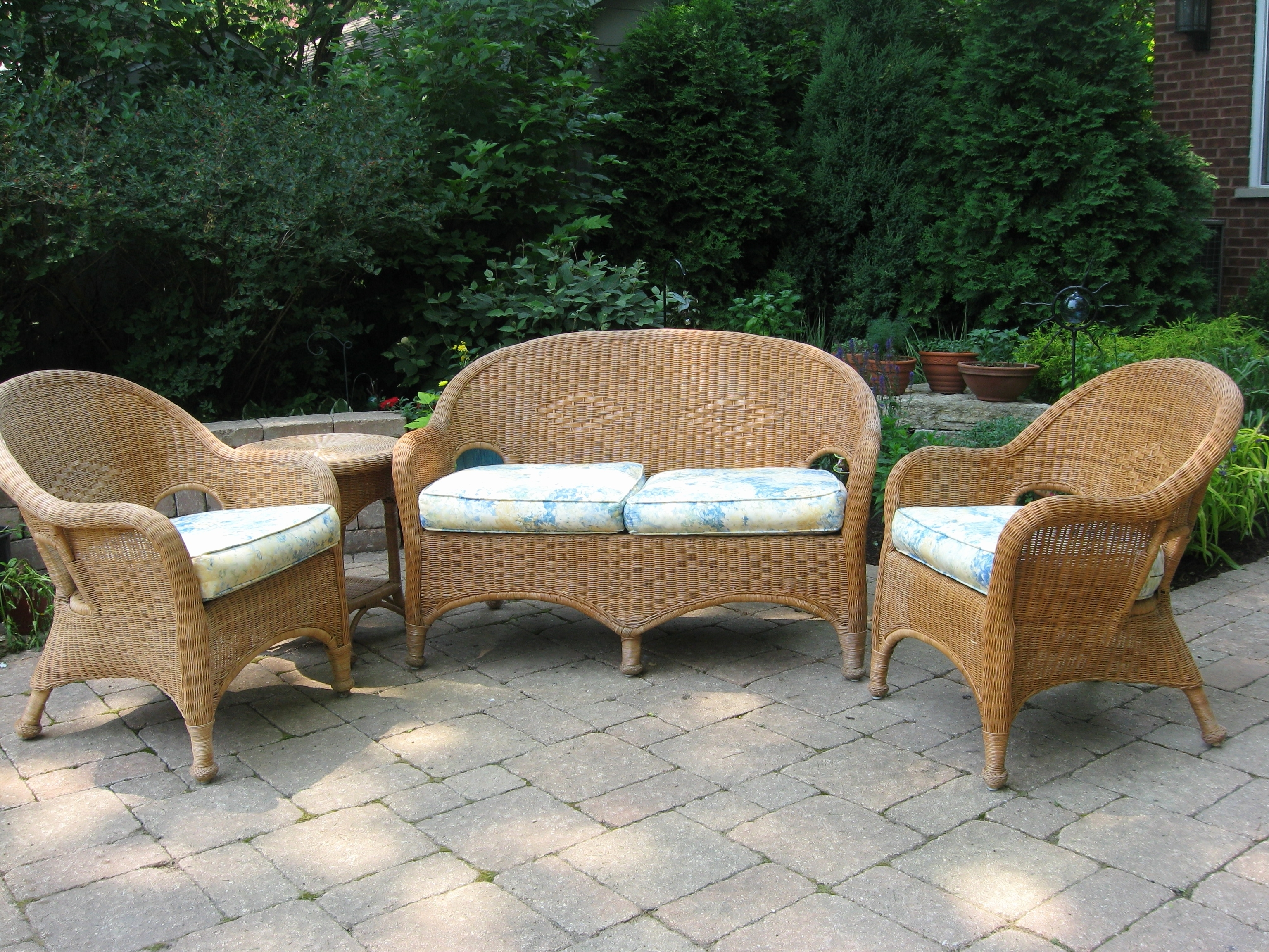Well Known Chair : Phenomenal Outdoor Wicker Patio Furniture Chairs New Intended For Pier One Patio Conversation Sets (View 12 of 20)