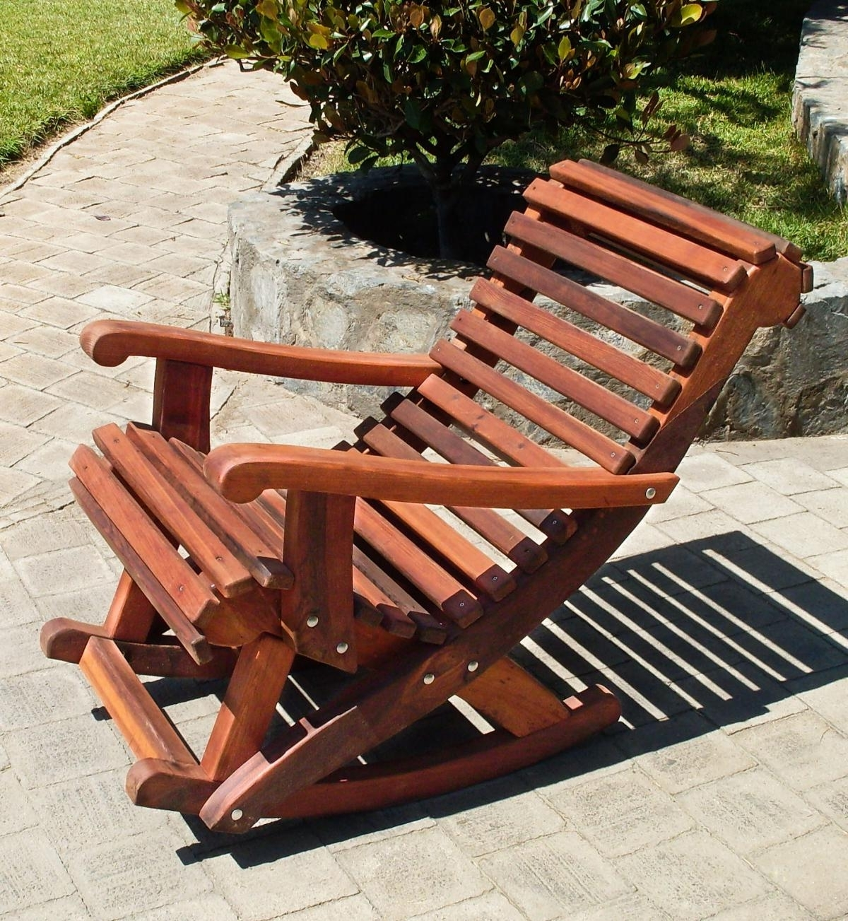 Well Known Cozy Outdoor Wooden Rocking Chairs : Pleasure Outdoor Wooden Rocking Throughout Rocking Chair Outdoor Wooden (View 15 of 20)