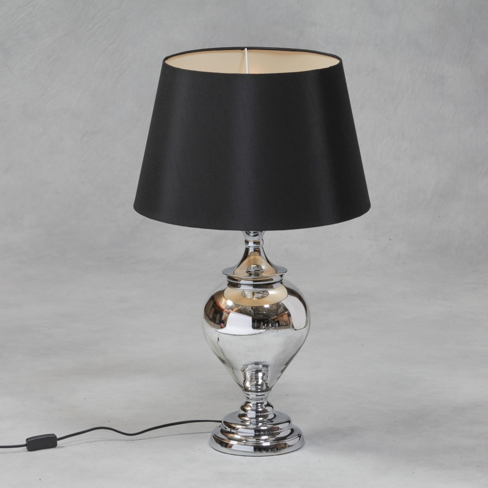 Well Known Fascinating Black And Silver Lamps Larg Table Lamp 1 Living Room In Silver Table Lamps For Living Room (View 19 of 20)