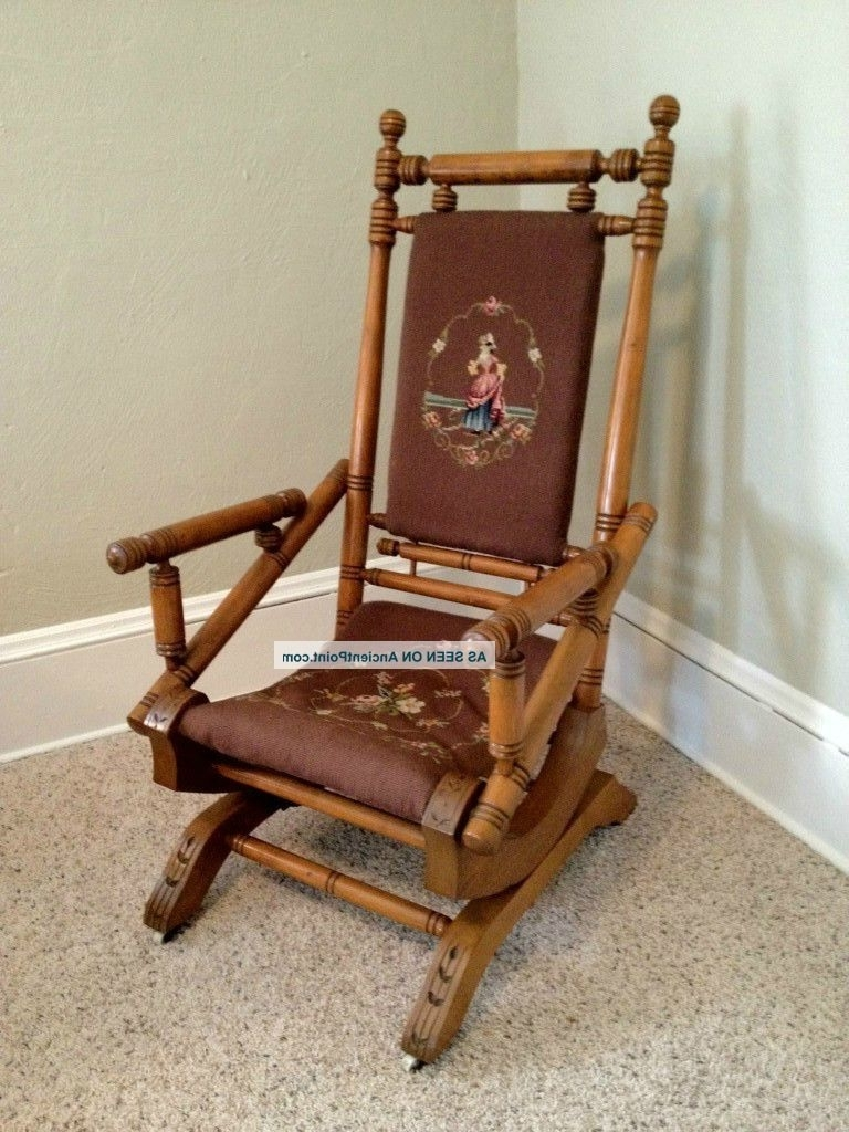Well Known Fresh Antique Upholstered Rocking Chair On Home Decor Ideas With Inside Antique Rocking Chairs (View 18 of 20)