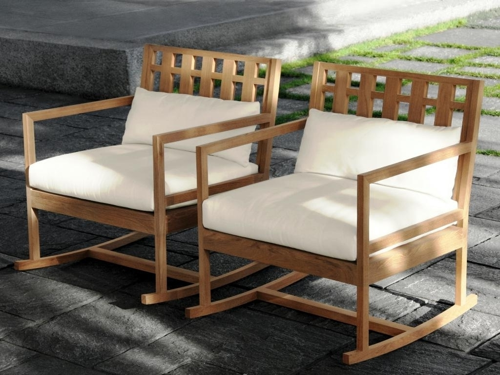 Well Known Furniture: Cozy Teak Rocking Chairs For Outdoor Furniture As Modern Inside Teak Patio Rocking Chairs (View 12 of 20)