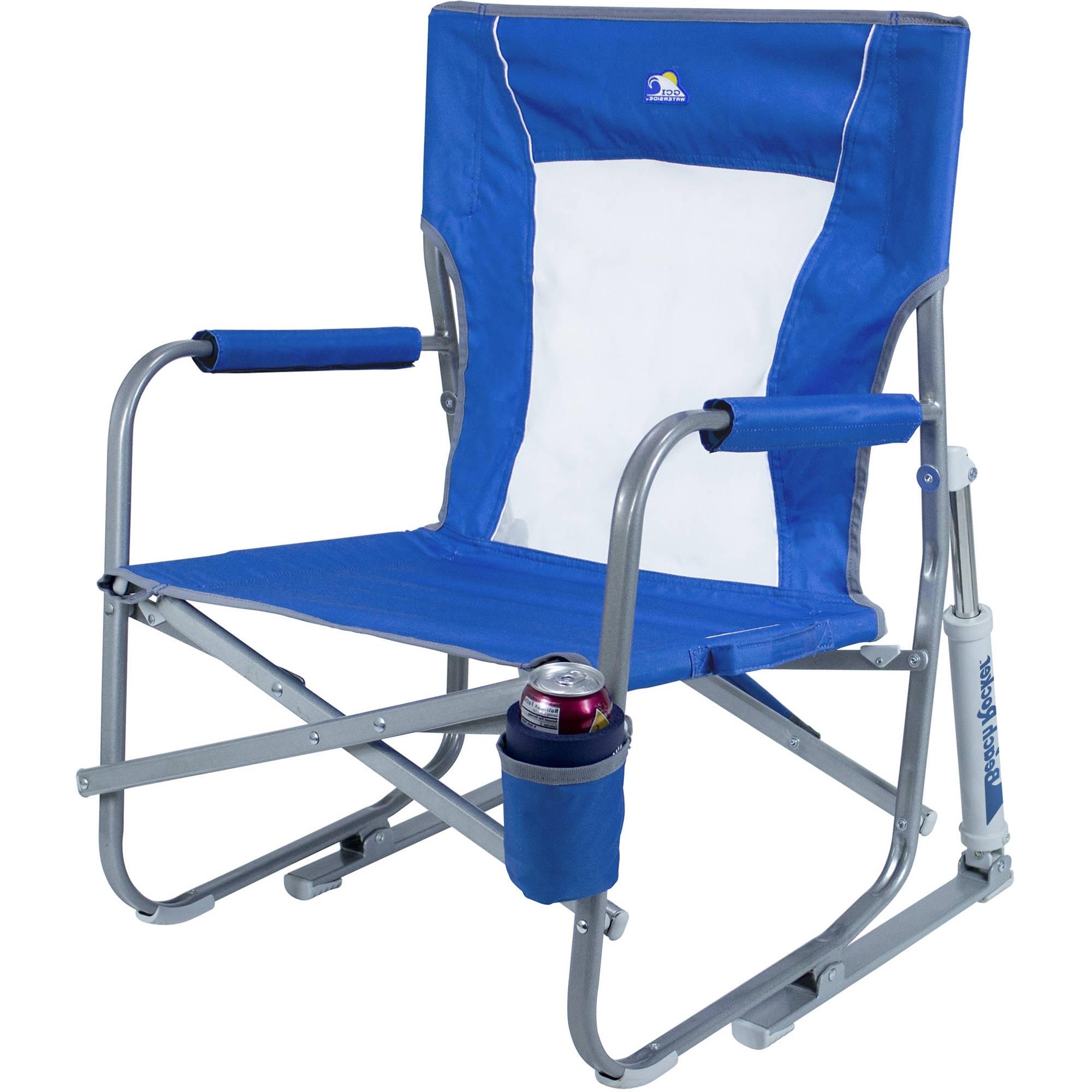 Well Known Gci Outdoor Beach Rocker Folding Chair (Saybrook Blue) 60083 B&h Regarding Folding Rocking Chairs (View 18 of 20)