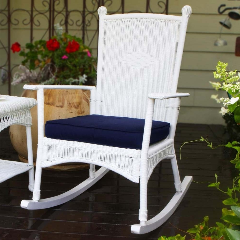 Well Known Indoor Wicker Rocking Chairs For Tortuga Outdoor Portside Classic Wicker Rocking Chair – Wicker (View 20 of 20)