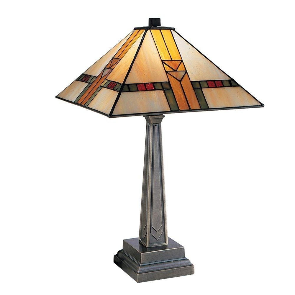 Well Known Living Room Table Lamps At Home Depot Within Dale Tiffany 20.75 In (View 20 of 20)