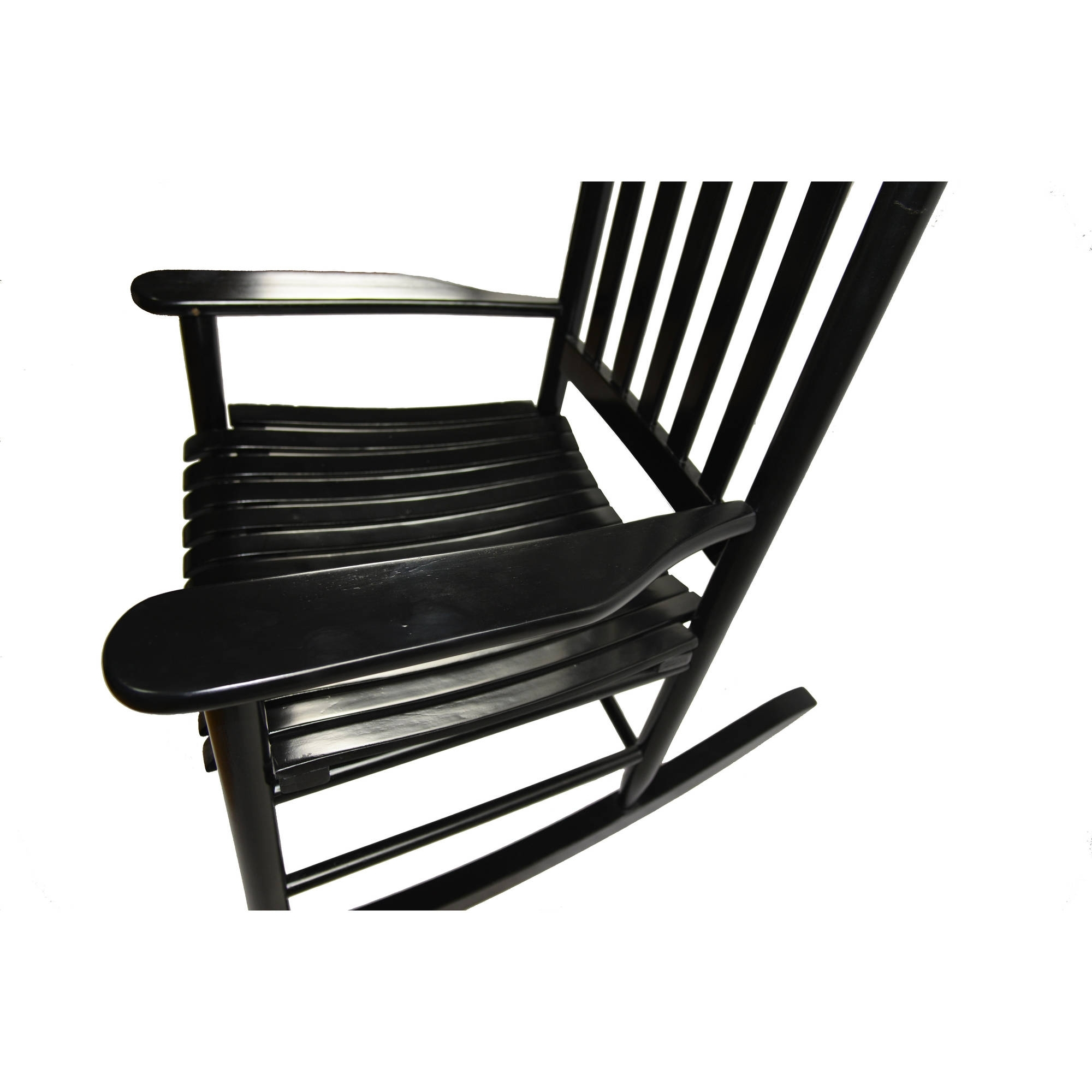 Well Known Mainstays Outdoor Wood Rocking Chair – Walmart Pertaining To Walmart Rocking Chairs (View 15 of 20)