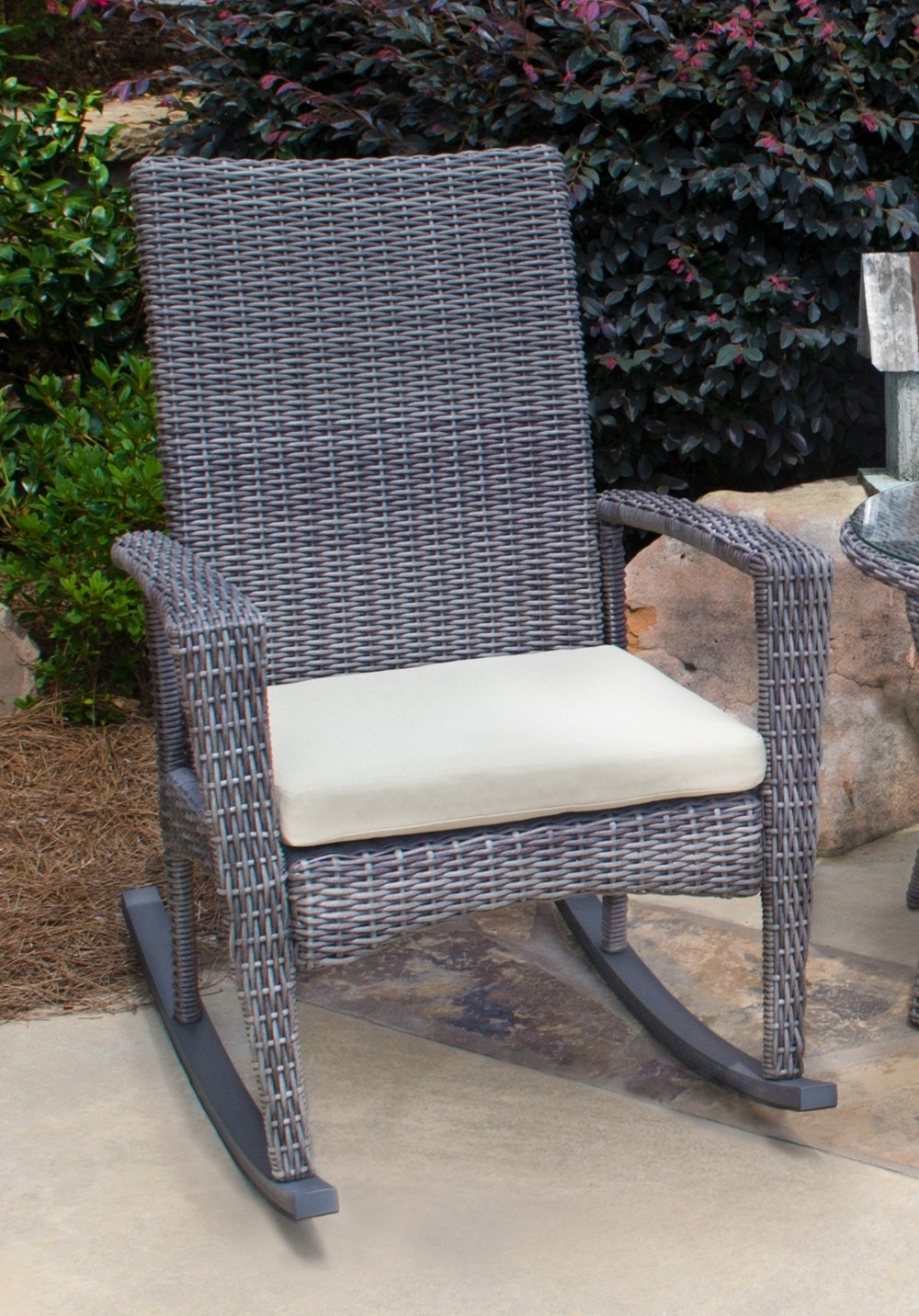 Well Known Outdoor : Outdoor Bistro Cushions Patio Rocker Cushions Rocking Inside Small Patio Rocking Chairs (View 15 of 20)