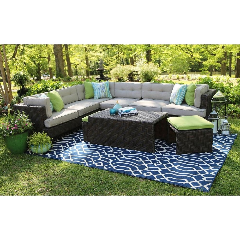 Well Known Patio Conversation Sets – Outdoor Lounge Furniture – The Home Depot Within Patio Sectional Conversation Sets (View 6 of 20)