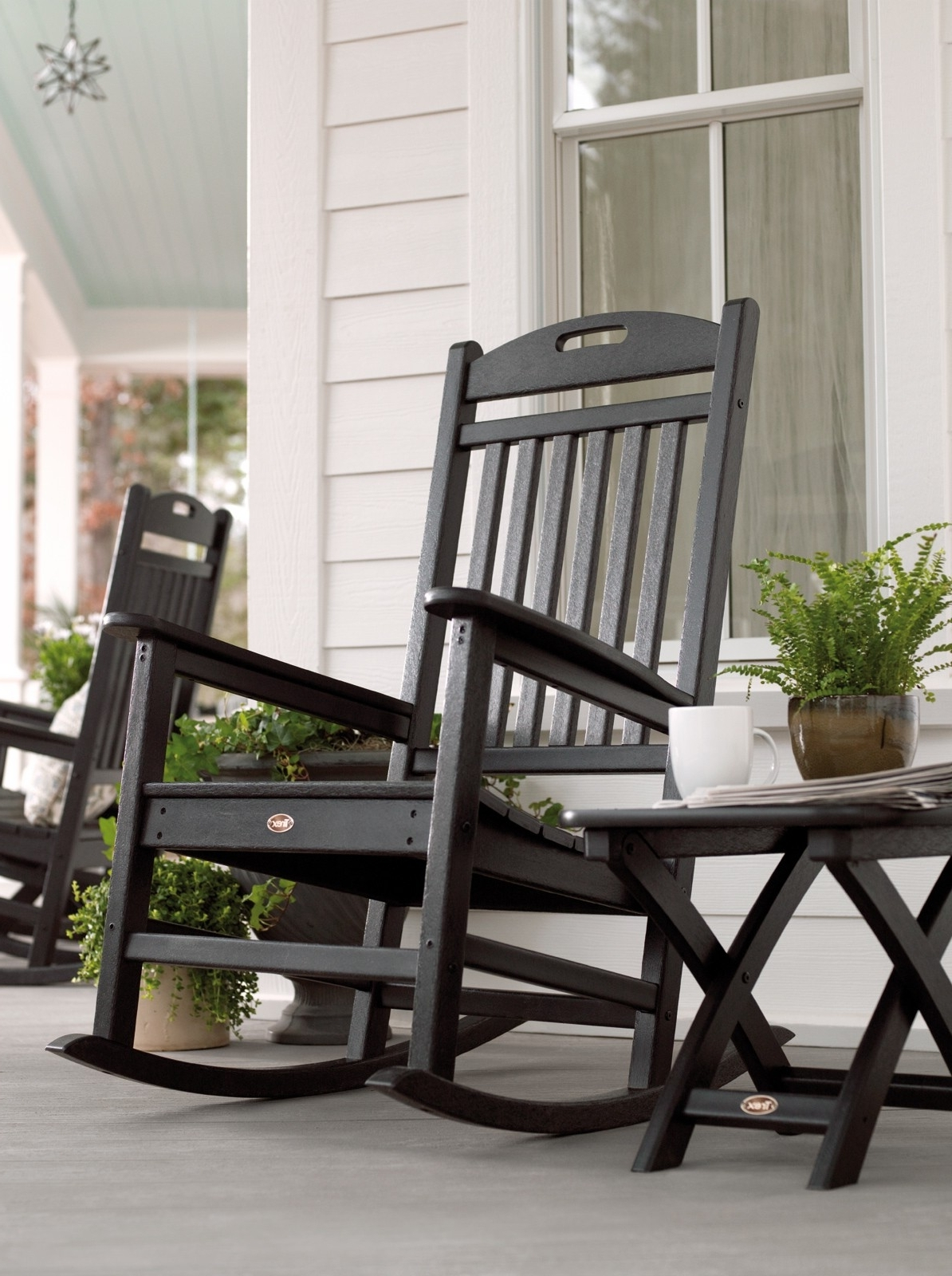 Well Known Patio & Garden : Outdoor Rocking Chair Seat Cushions Outdoor Rocking Pertaining To Patio Rocking Chairs With Ottoman (View 7 of 20)