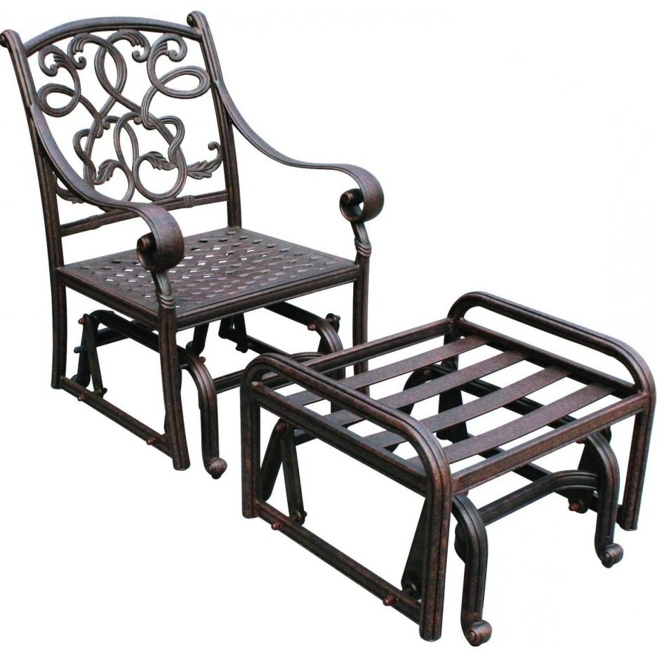 Well Known Patio Rocking Chairs And Gliders Throughout Chair : Popular Glider Outdoor Patio Furniture Interior Design (View 13 of 20)