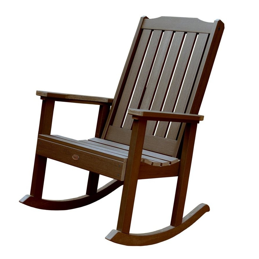 Well Known Rocking Chairs At Lowes With Regard To Livingroom : Black Outdoor Rocking Chairs Lowes At Chair Cushions (View 18 of 20)