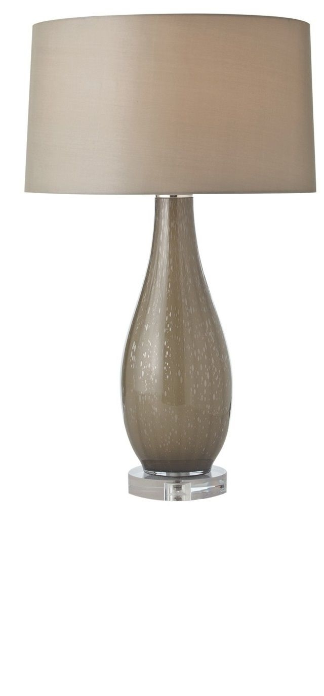 Well Known Taupe Contemporary Table Lamp — Shade And Body From Instyle Decor Throughout Living Room Table Lamp Shades (View 19 of 20)