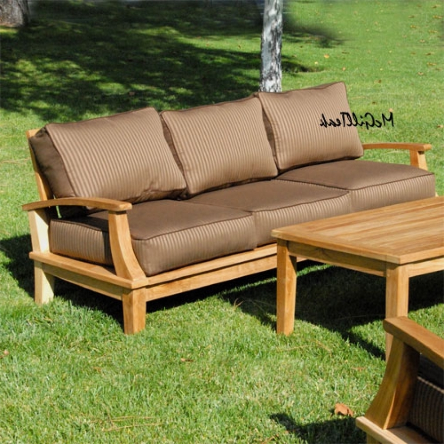 Well Known Teak Deep Seating – Teak Outdoor Deep Seating Throughout Teak Patio Conversation Sets (View 4 of 20)