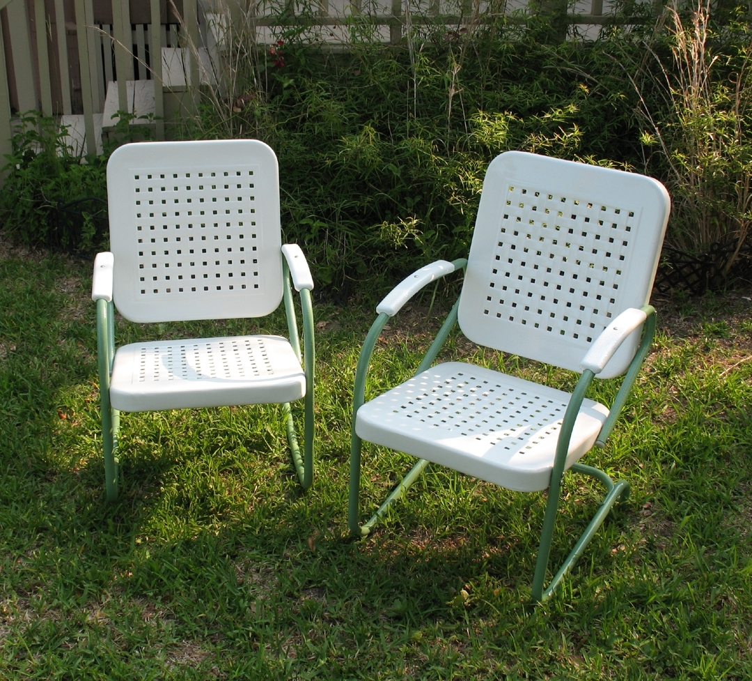 Well Known Vintage Metal Rocking Patio Chairs Within New Metal Patio Chairs – Outdoor Decorations (View 20 of 20)