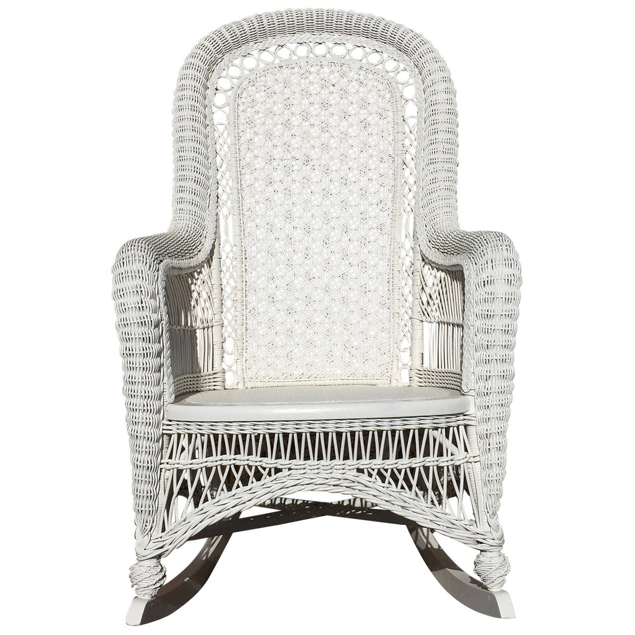 Well Known White Wicker Rocking Chairs Inside Antique Victorian Wicker Rocker At 1Stdibs (View 15 of 20)