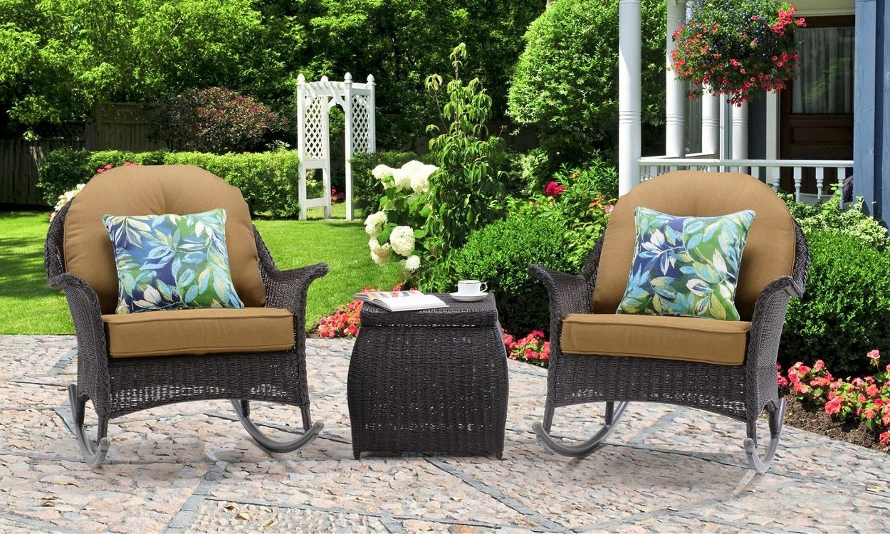 Well Known Wicker Rocking Chairs And Ottoman Regarding 3 Tips For Buying Outdoor Rocking Chairs – Overstock (View 18 of 20)