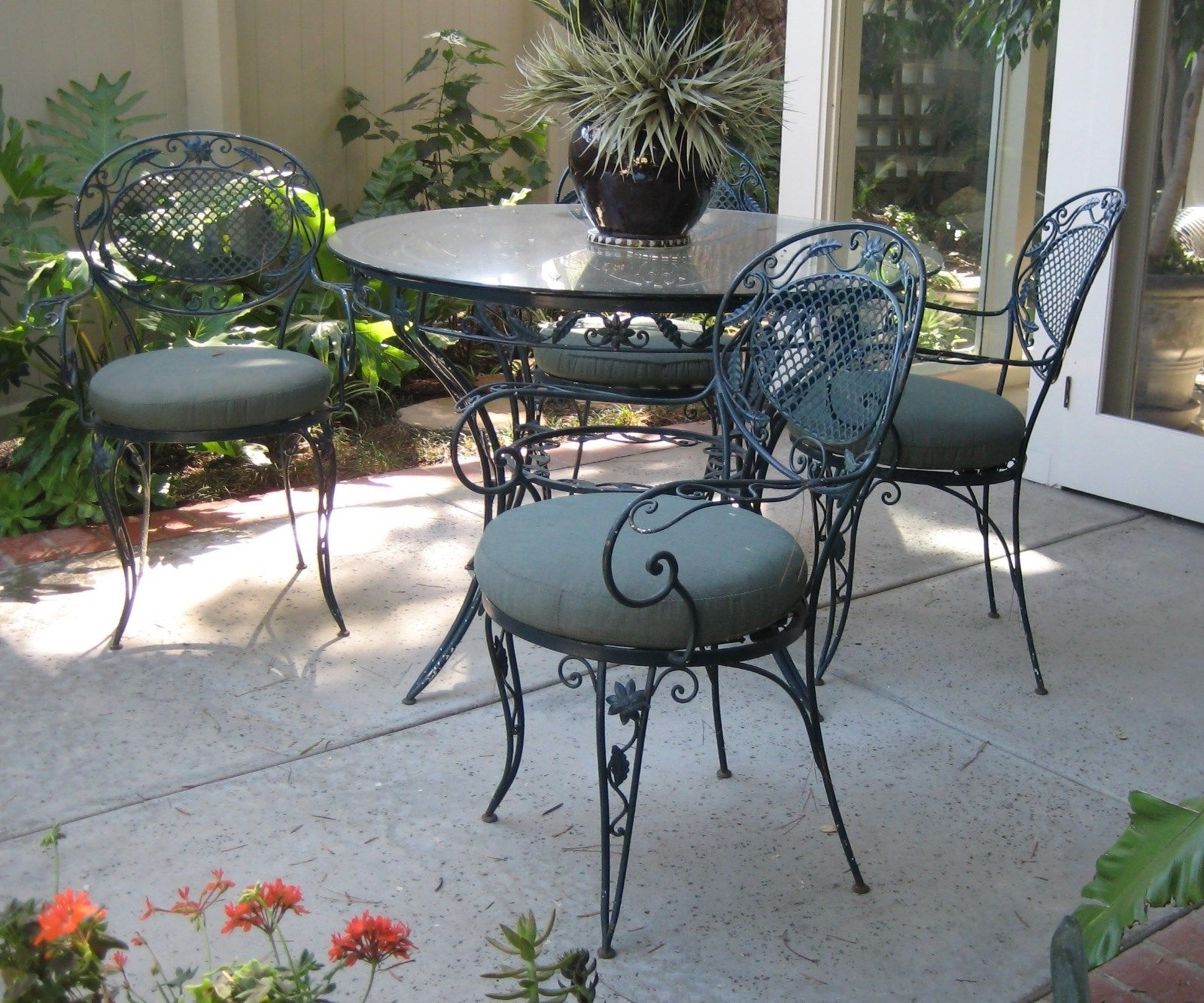 Well Known Wrought Iron Patio Conversation Sets Throughout Patio : 23 Vintage Garden Chairs Metal Particular Have Coral Coast (View 12 of 20)