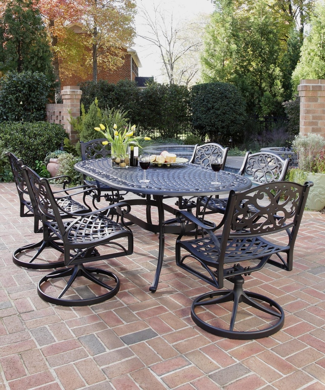 Well Known Wrought Iron Patio Furniture Cushions — Wilson Home Ideas For Wrought Iron Patio Conversation Sets (View 6 of 20)