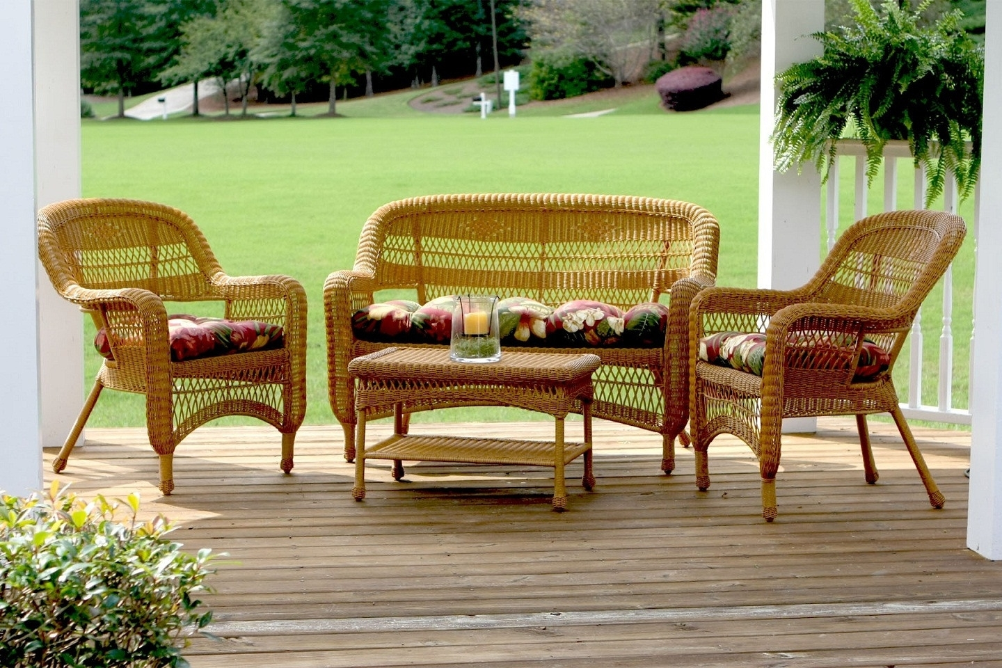 Well Known Wrought Iron Patio Furniture Lowes – Wonderful Wicker Patio With Patio Conversation Sets At Lowes (View 4 of 20)