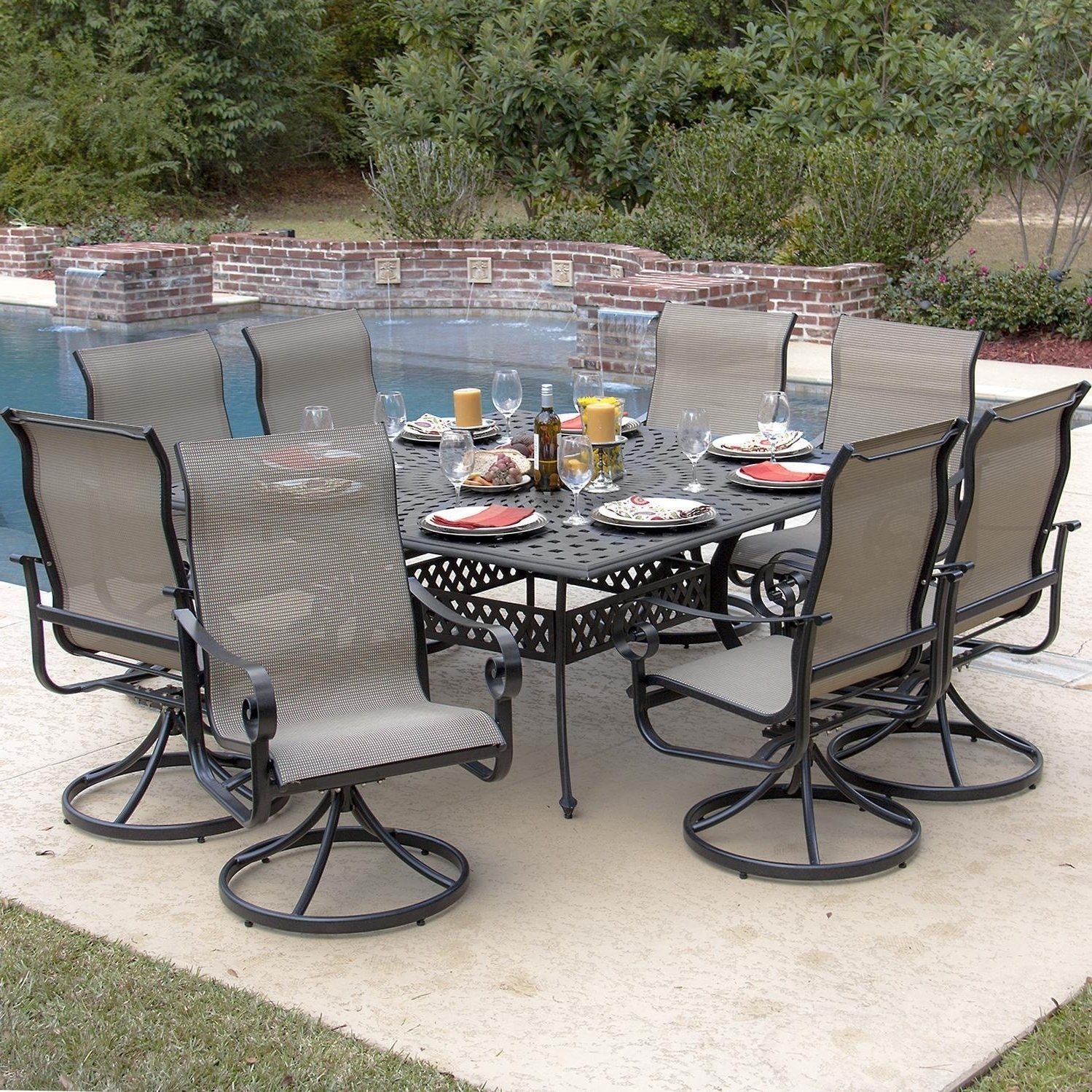 Well Liked Patio Sling Rocking Chairs With Regard To Enjoy Your Swivel Rocker Patio Chairs — The Home Redesign (View 18 of 20)