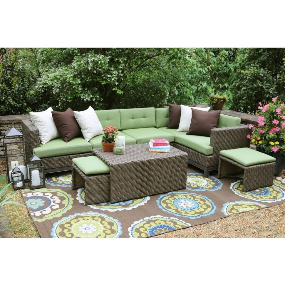 Well Liked Patio : Sunbrella Fabric Patio Conversation Sets Outdoor Lounge Intended For Patio Conversation Sets With Sunbrella Cushions (View 10 of 20)