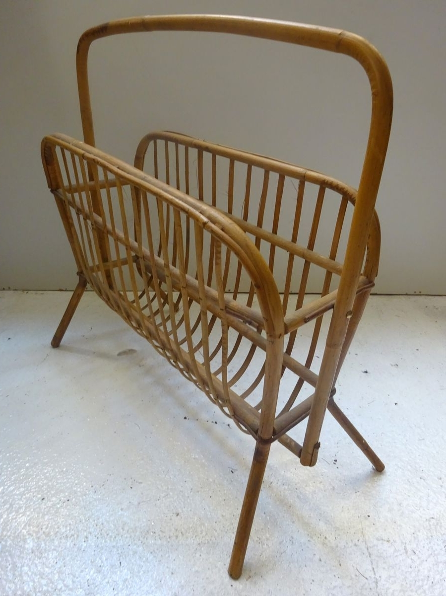 Well Liked Wicker Rocking Chair With Magazine Holder Pertaining To Wicker Magazine Rack, 1960S For Sale At Pamono (View 16 of 20)
