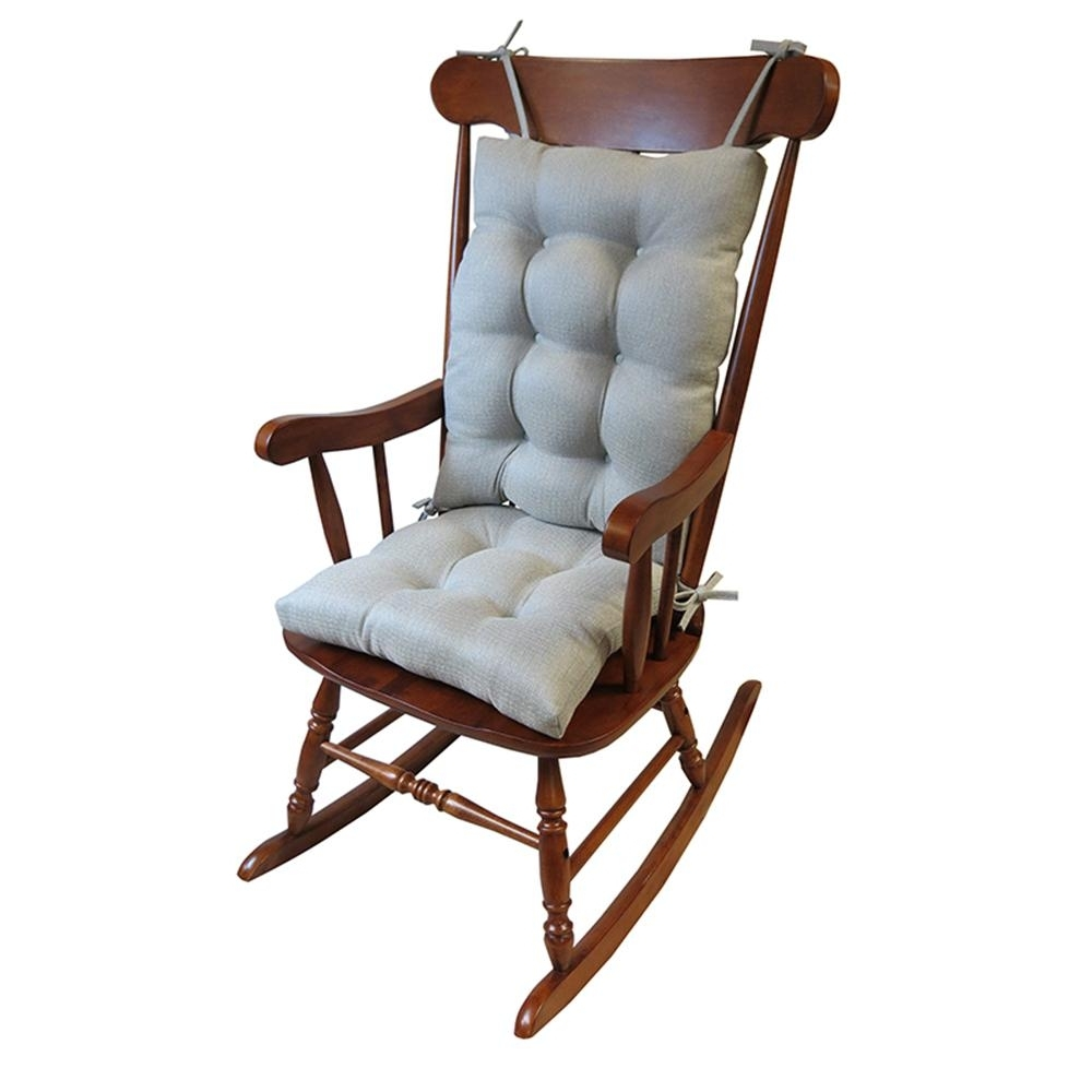 Well Liked Xl Rocking Chairs With Regard To Gripper Omega Gray Jumbo Rocking Chair Cushion Set 849307xl 80 – The (View 2 of 20)