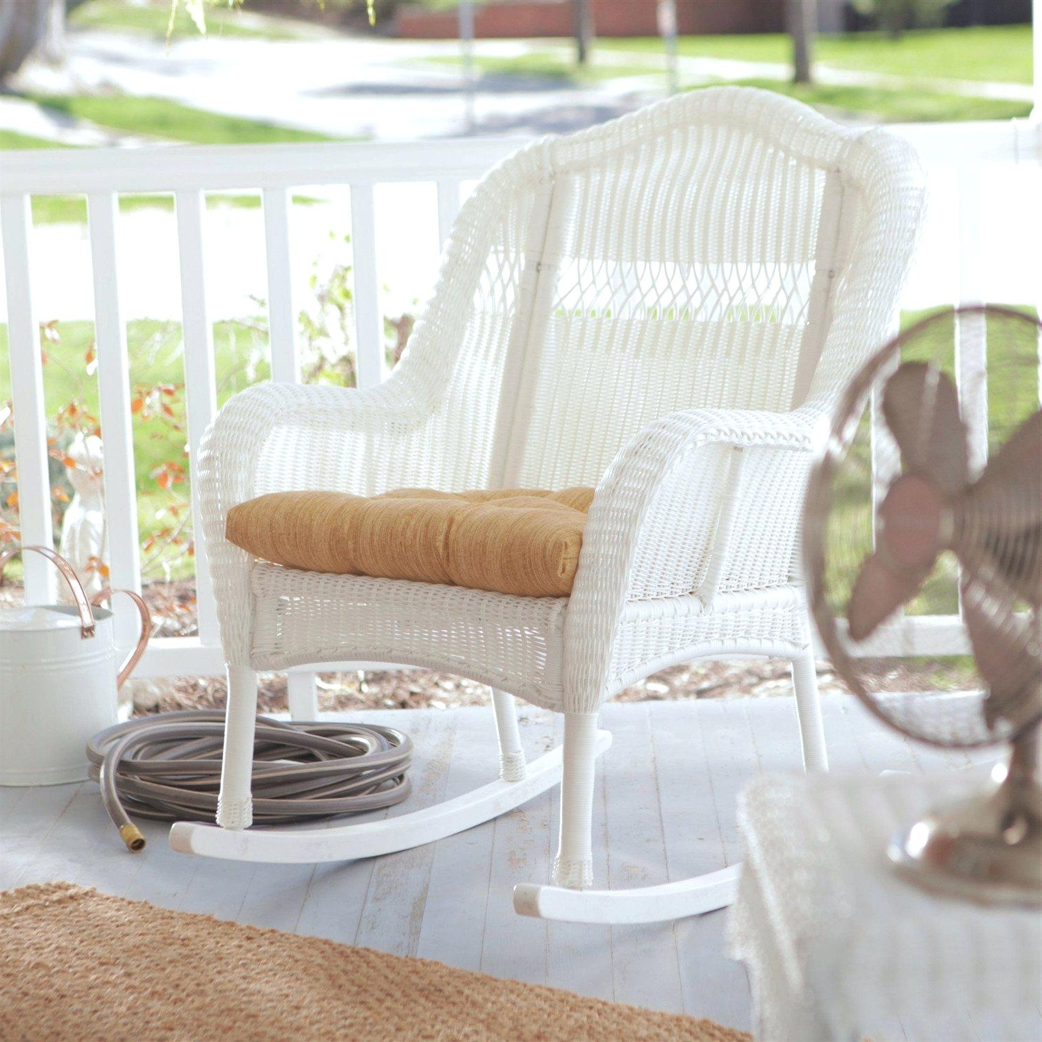 White Wicker Rocking Chair For Nursery Canada Uk – Concassage Pertaining To Trendy White Wicker Rocking Chair For Nursery (View 12 of 20)