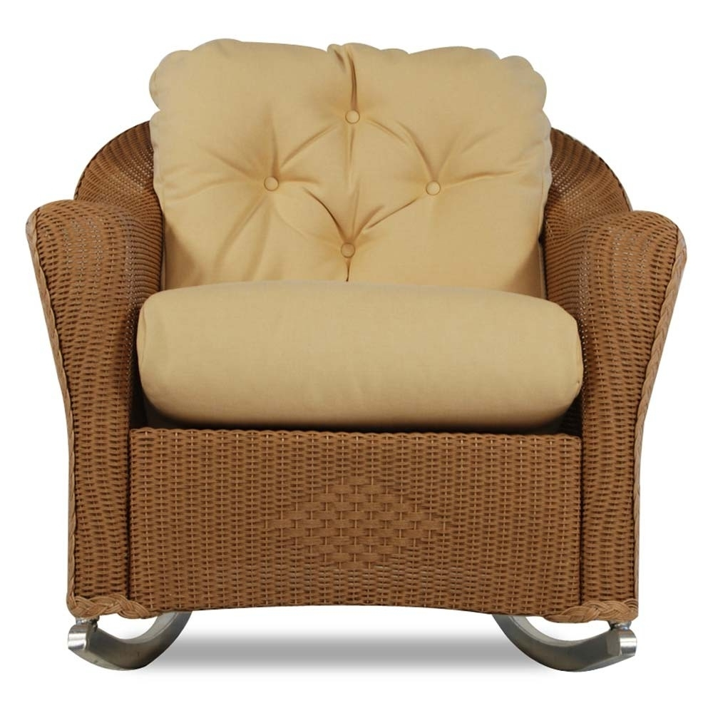 Wicker Rocking Chairs For Outdoors Throughout Well Liked Lloyd Flanders Reflections Wicker Lounge Rocker – Special (View 20 of 20)