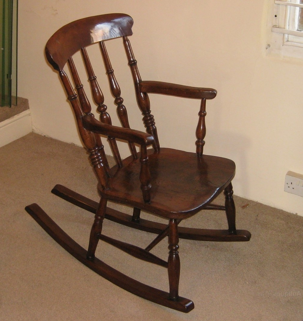 Widely Used Antique Rocking Chairs With Victorian Elm And Beech Rocking Chair – Antiques Atlas (View 19 of 20)