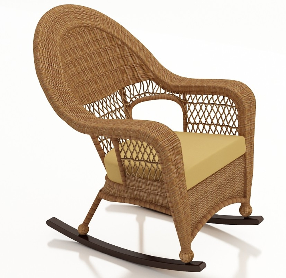 Widely Used Brown Wicker Patio Rocking Chairs With Regard To Forever Patio Catalina Wicker High Back Rocker – Replacement Cushion (View 14 of 20)