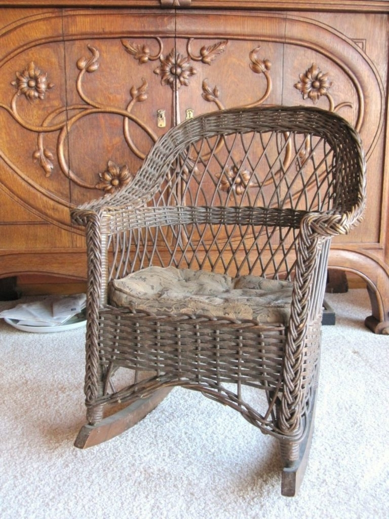 Widely Used Chair Design Ideas Best Vintage Wicker Chairs Home Antique Cane With Antique Wicker Rocking Chairs With Springs (View 20 of 20)