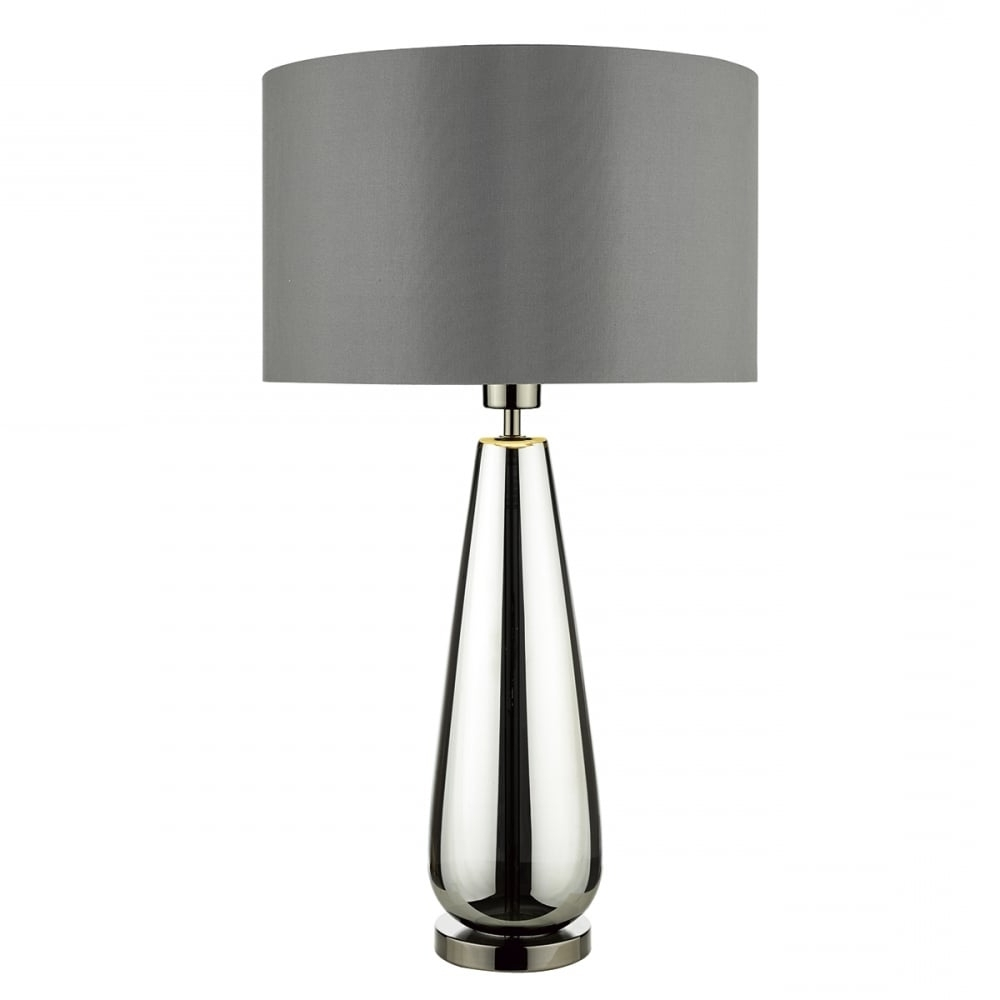 Widely Used Clear Table Lamps For Living Room With Alluring Modern Glass Table Lamp 6 Clear With White Paper Shade And (View 3 of 20)