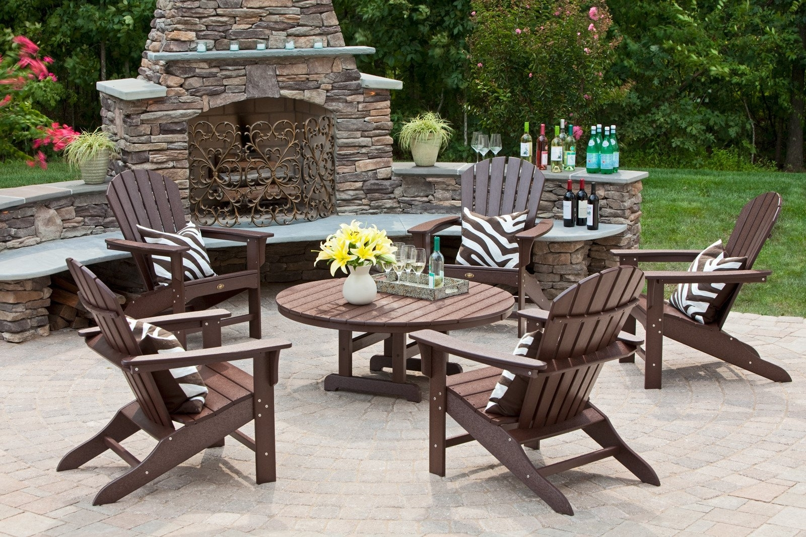 Widely Used Conversation Sets Hampton Bay Patio Chat Set Wood Patio Furniture Regarding Wood Patio Furniture Conversation Sets (View 7 of 20)