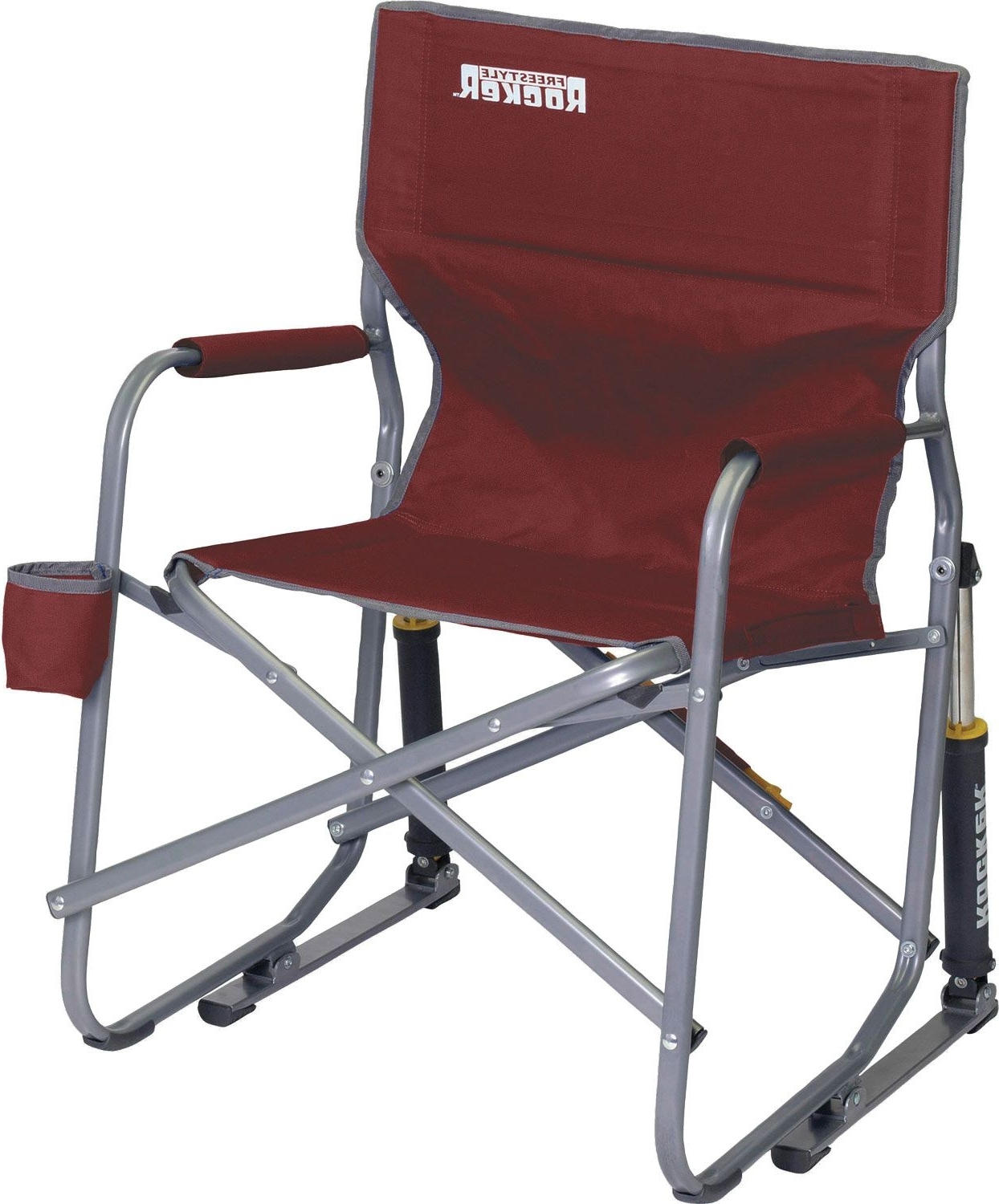 Widely Used Gci Outdoor Freestyle Rocker Chair Sporting Goods Cinnamon Folding Pertaining To Folding Rocking Chairs (View 19 of 20)