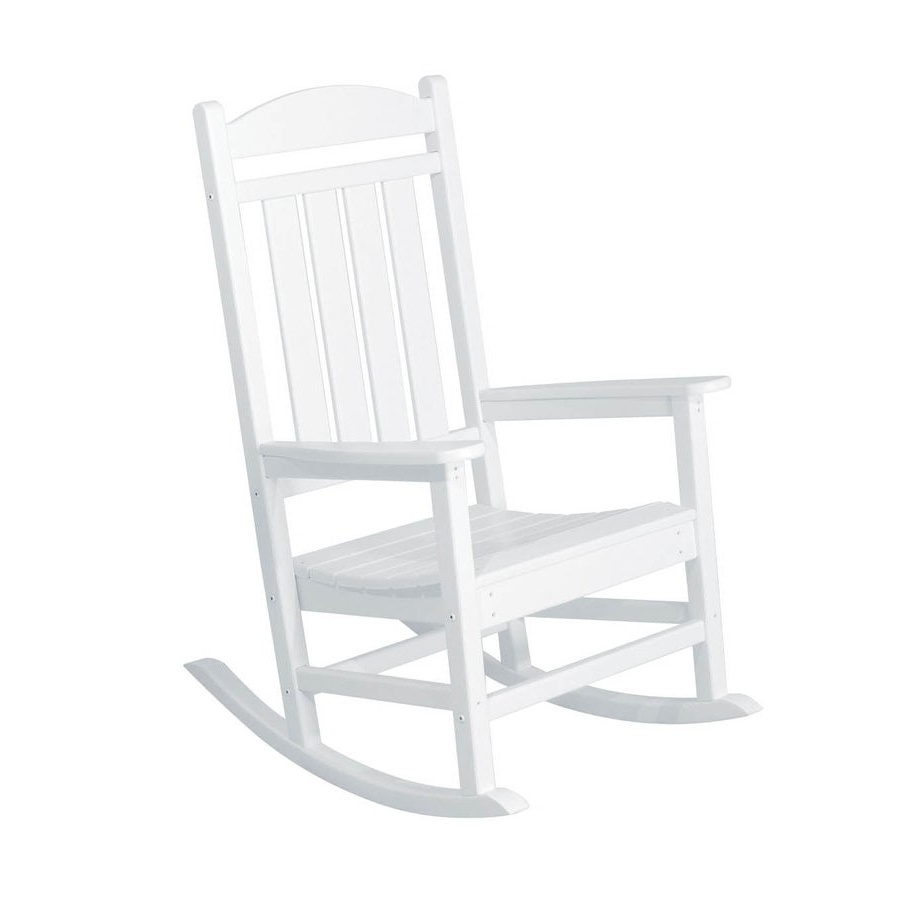 Widely Used Lowes Rocking Chairs Inside Lowes Rocking Chairs Creative Portray Polywood Presidential Plastic (View 20 of 20)