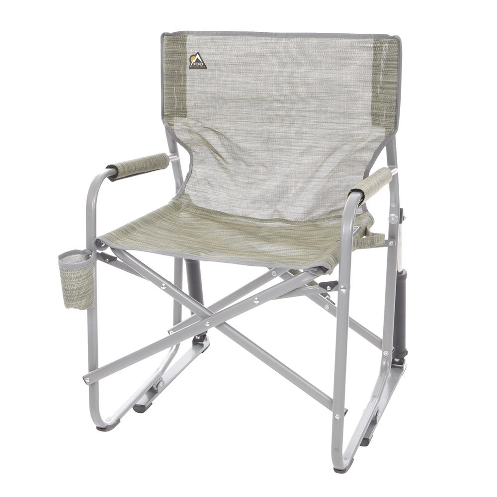 Widely Used Mesh Folding Rocker, Green – Gci Outdoor 37080 – Folding Chairs Within Folding Rocking Chairs (View 18 of 20)