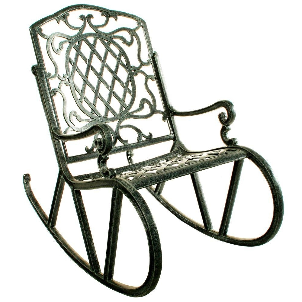 Widely Used Oakland Living Mississippi Patio Rocking Chair 2114 Ab – The Home Depot Pertaining To Manhattan Patio Grey Rocking Chairs (View 20 of 20)