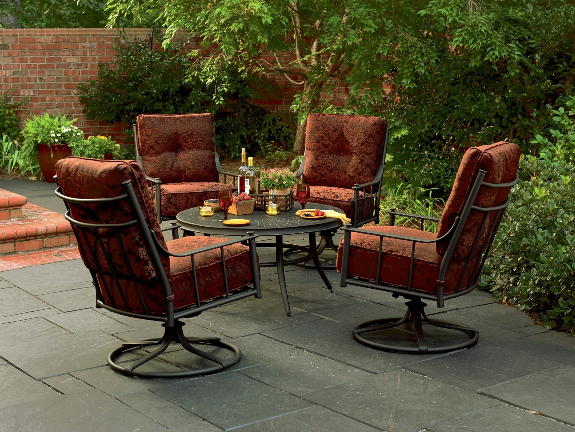Widely Used Patio Conversation Sets With Swivel Chairs F53x On Creative Small Inside Patio Conversation Sets For Small Spaces (View 16 of 20)