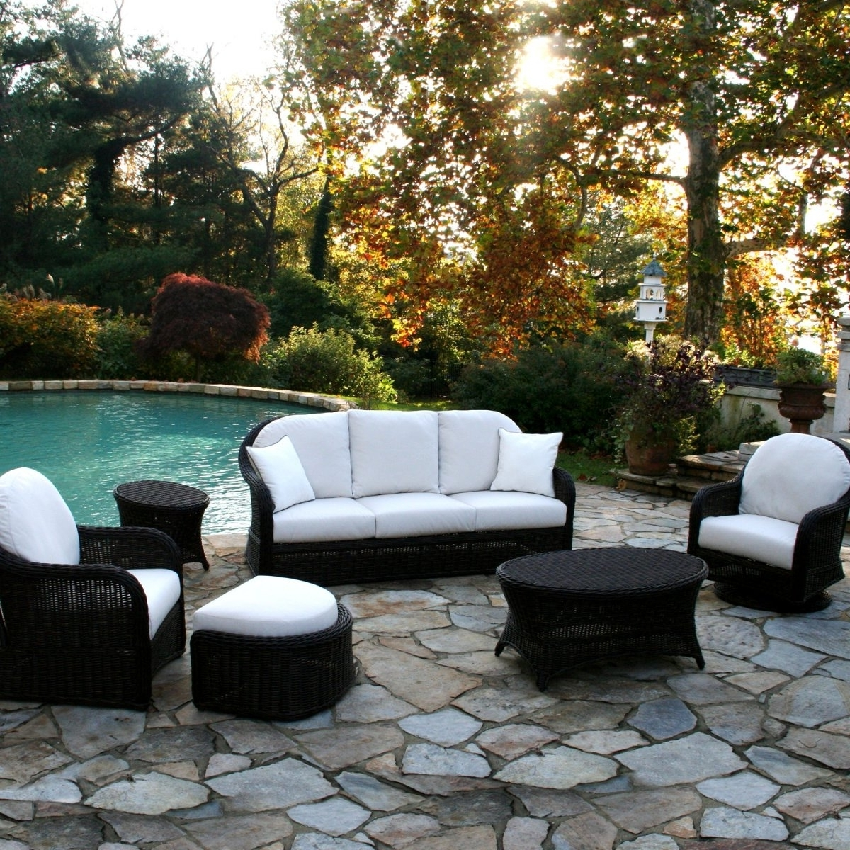 Widely Used Patio Conversation Sets With Swivel Chairs Inside Conversation Chairs Patio Furniture Lowes Patio Conversation Sets (View 10 of 20)