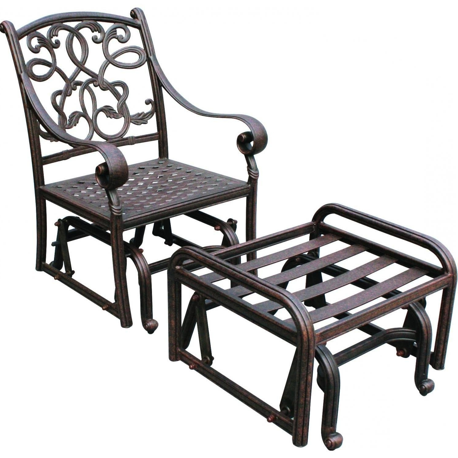 Widely Used Patio Rocking Chairs With Ottoman Throughout Chair : Rocker Plans Wicker Resin Lounge Sling Patio Furniture (View 9 of 20)