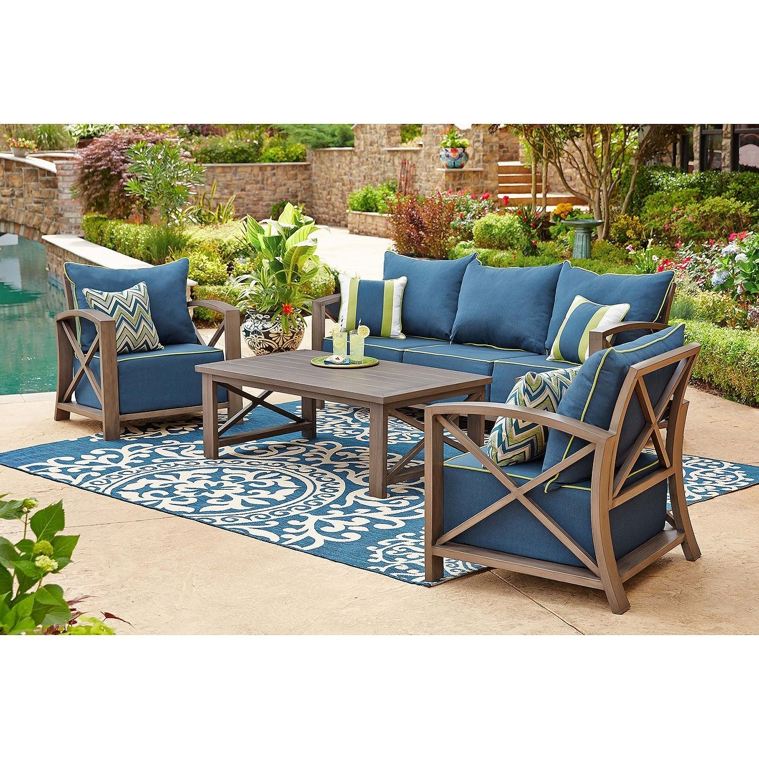 Widely Used Practical Sam S Club Outdoor Patio Furniture Appealing Replacement For Patio Conversation Sets At Sam's Club (View 4 of 20)