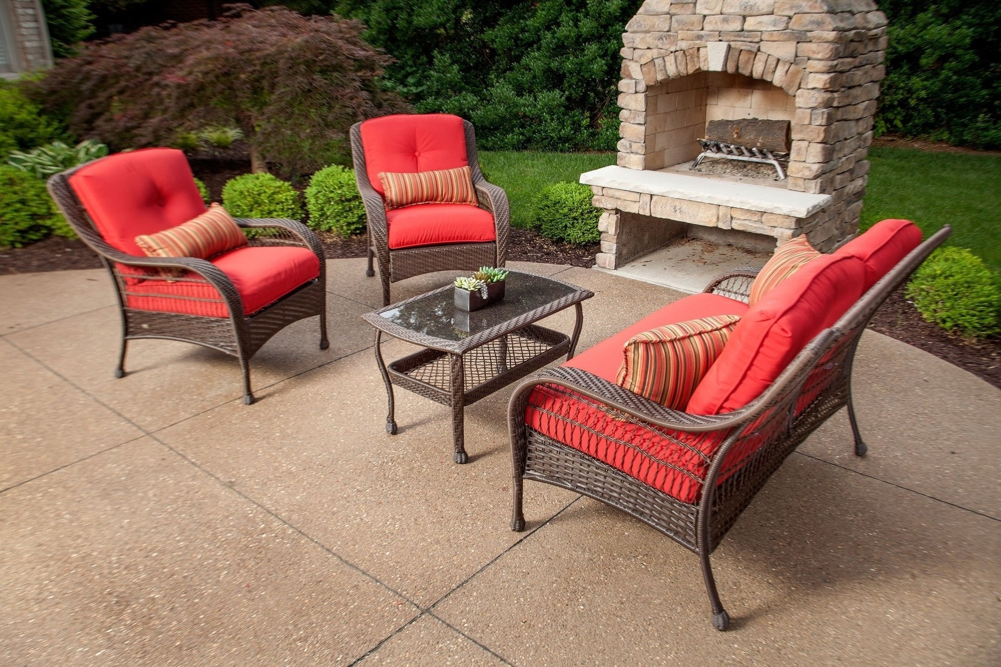 Widely Used Red Patio Conversation Sets Intended For Patio Table: Patio Furniture Set Americas Backyards Outdoor Living (View 20 of 20)
