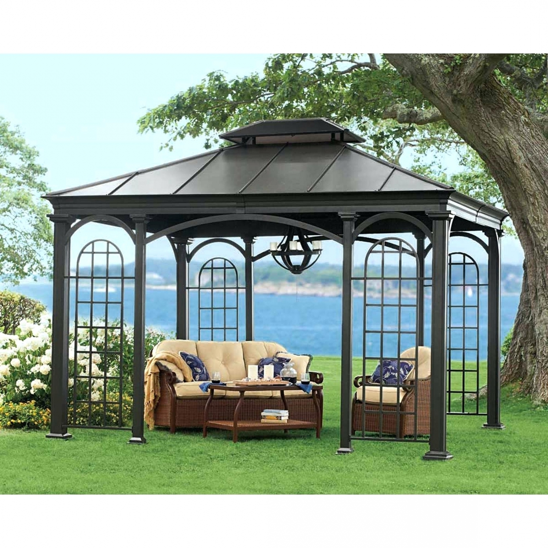 Widely Used Rona Patio Rocking Chairs With Gazebo Rona Hardtop Gazebos For Ontario Clearance Throughout Patio (View 19 of 20)