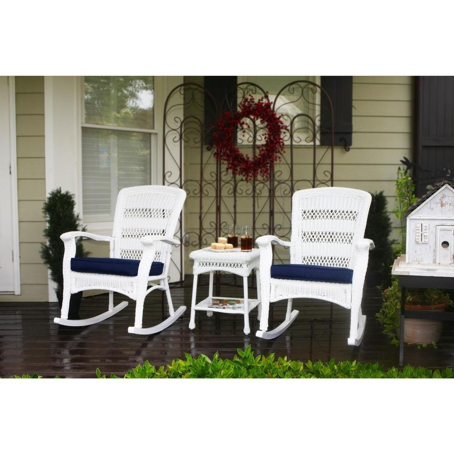 Widely Used Tortuga Plantation 3 Piece Resin Wicker Rocking Chair Set – Rocking For Resin Wicker Rocking Chairs (View 10 of 20)