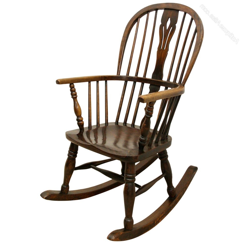 Widely Used Victorian Rocking Chairs With Victorian Windsor Rocking Chair – Antiques Atlas (View 20 of 20)