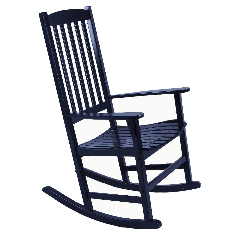 Willow Bay Patio Rocking Chair – Black (View 16 of 20)