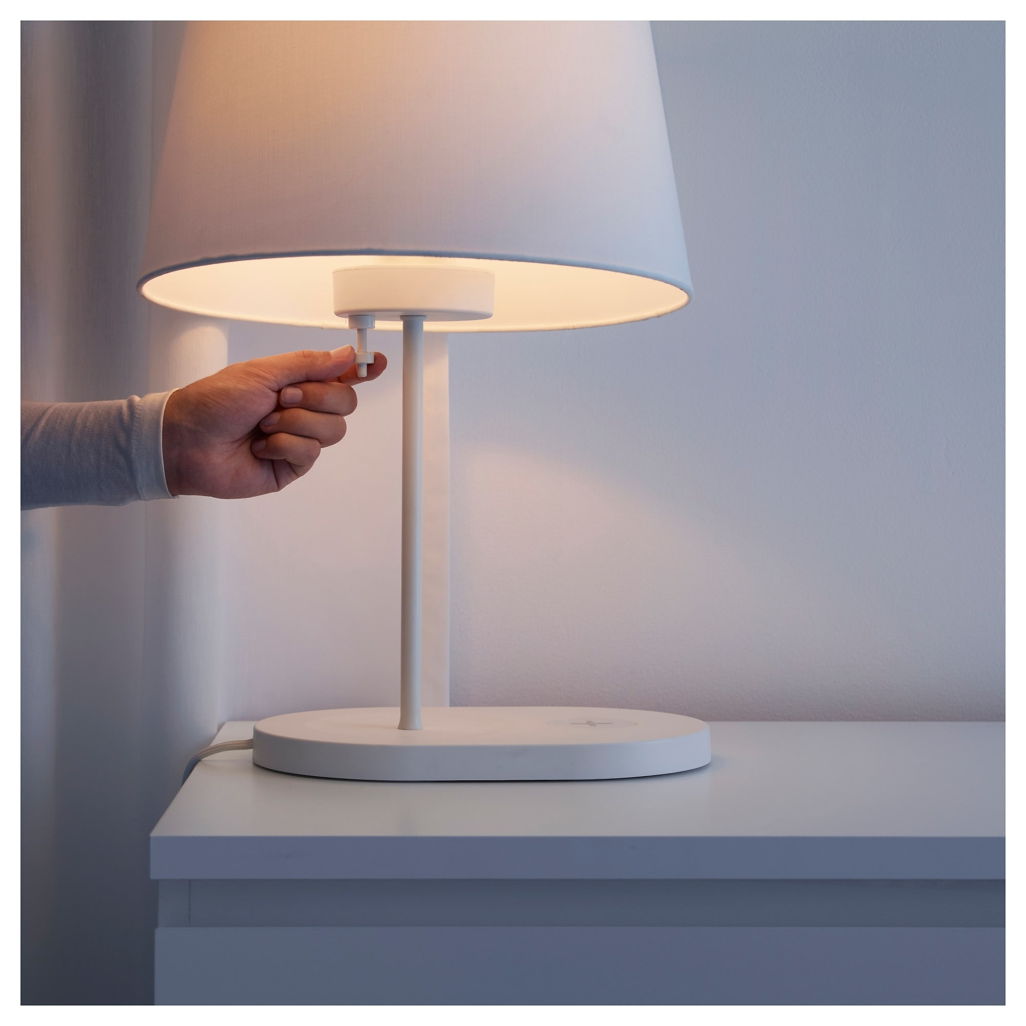Wireless Living Room Table Lamps Pertaining To Newest Varv Table Lamp Base W/wireless Charging – Ikea (View 15 of 20)