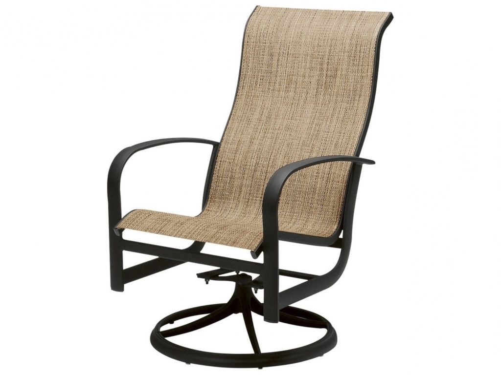Woodard Fremont Sling Aluminum High Back Swivel Rocker 2p0488 For Within Well Known Patio Sling Rocking Chairs (View 19 of 20)