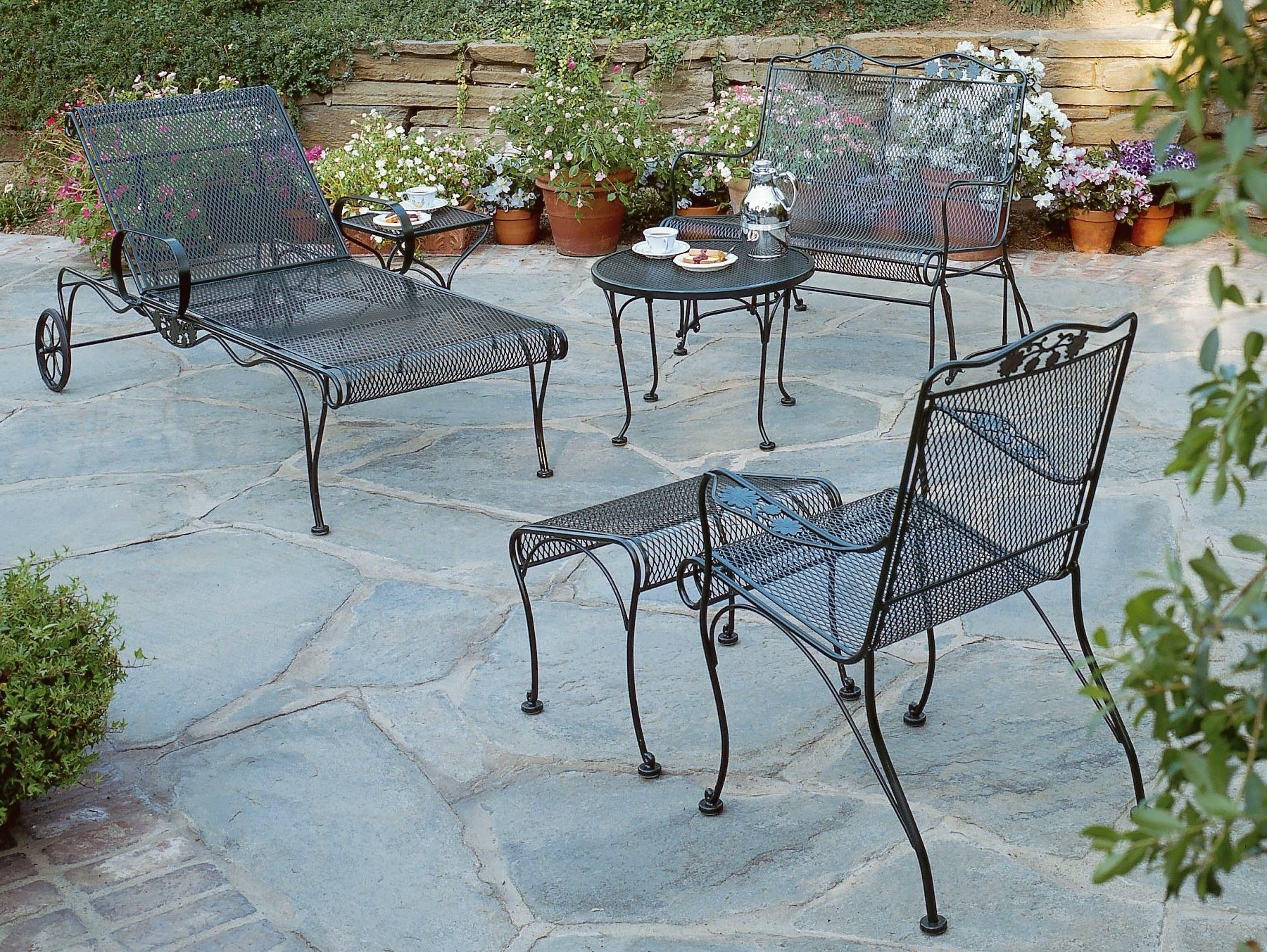 Wrought Iron Patio Conversation Sets With Regard To Newest 30 Fresh Wrought Iron Patio Furniture Las Vegas Ideas (View 19 of 20)